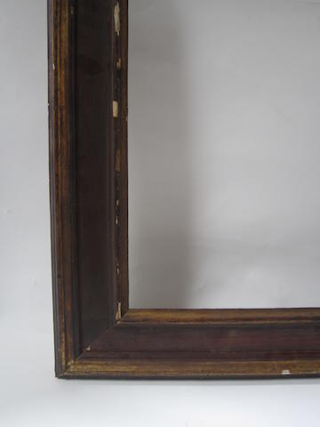 A Spanish 18th Century style polychromed and parcel gilt frame