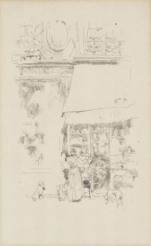 James Abbott McNeill Whistler (American, 1834-1903) La Fruitiere de la rue de Grenelle  Lithograph, 1894, on laid, apparently one of only 33 impressions recorded by Way, 300 x 190mm (11 3/4 x 7 1/2in)(I)