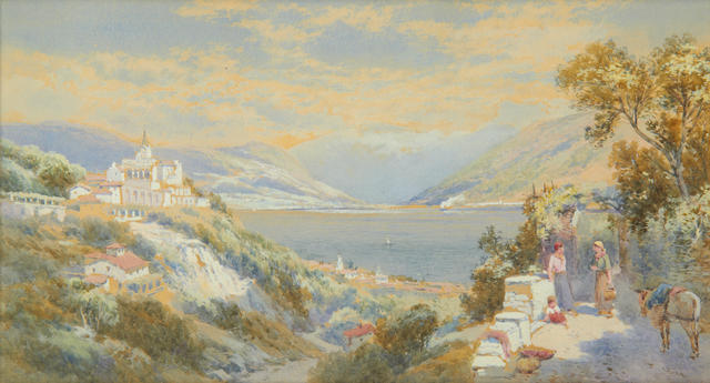 Charles Rowbotham (British, circa 1856-1921) Locarno, Lake Maggiore; and a companion  (2)