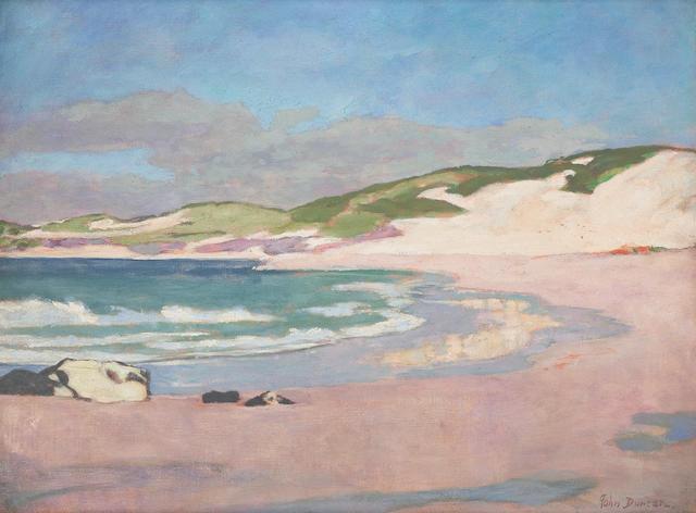 John Duncan, RSA RSW (British, 1866-1945) Iona seascape