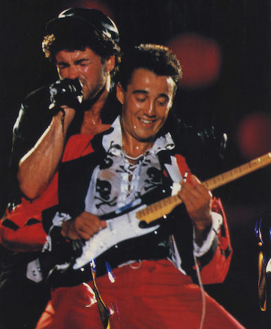 Wham!: A stage costume worn by Andrew Ridgeley, circa 1980s,