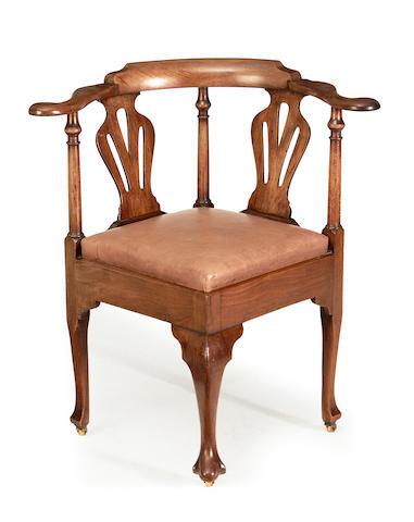 A George II corner armchair