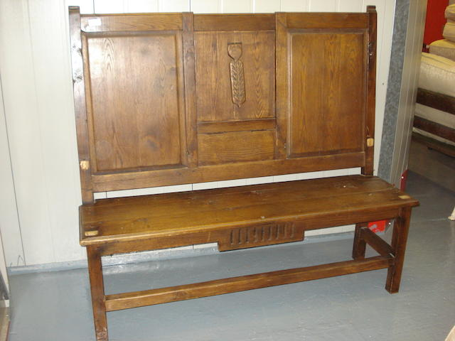 A French provincial oak settle,