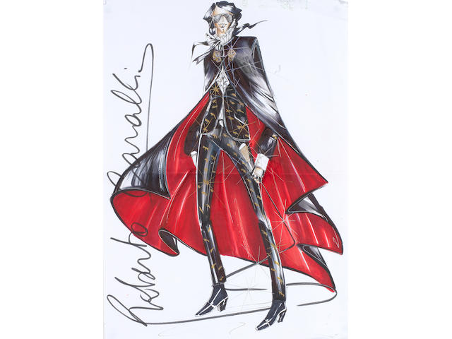 A Roberto Cavalli costume design for Michael Jackson,