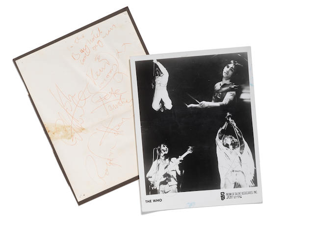 A set of autographs of The Who,