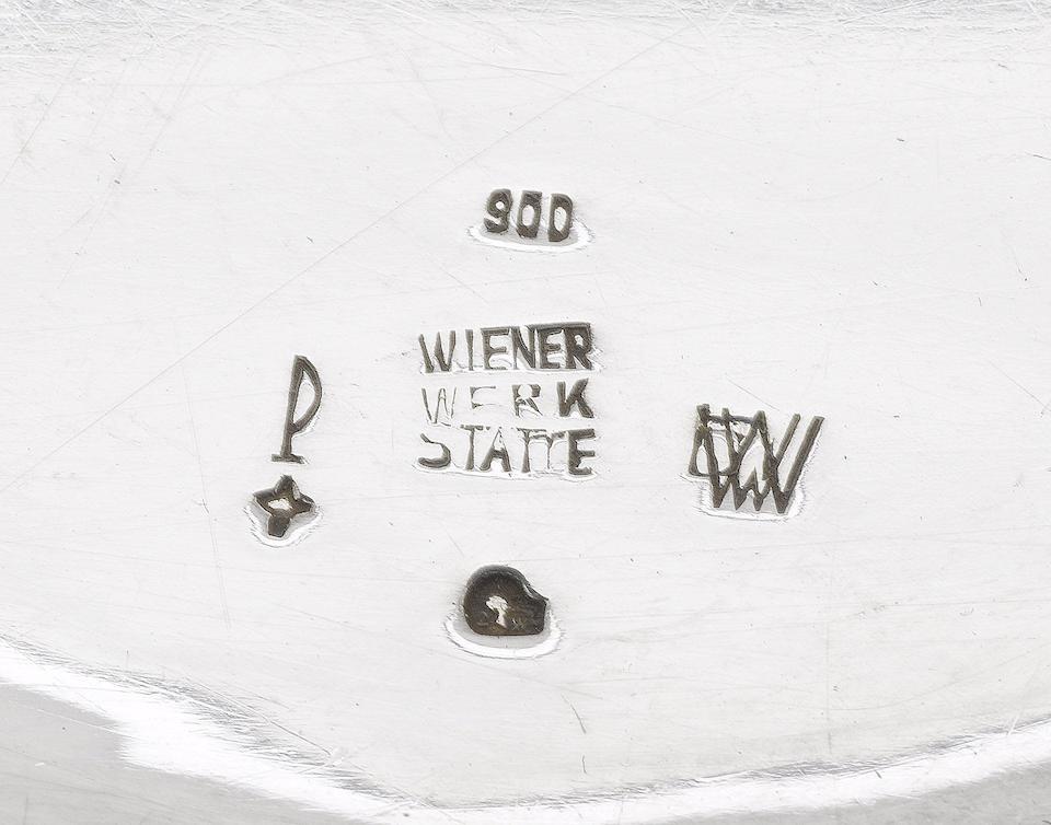 Dagobert Peche for the Wiener Werkstätte An Impressive Five Piece Silver Tea Service, design 1922