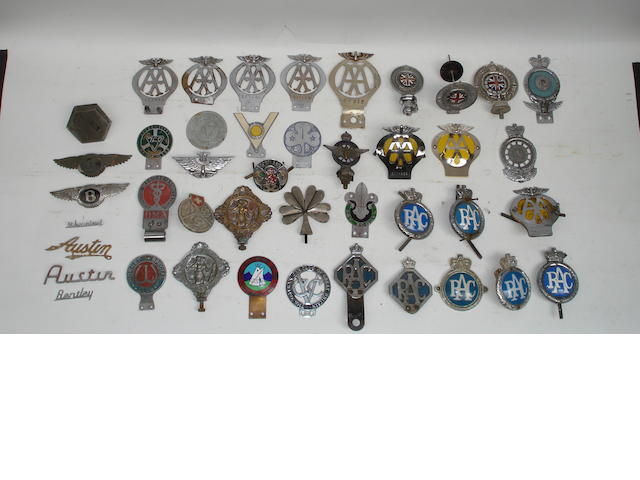 A collection of RAC and AA badges,