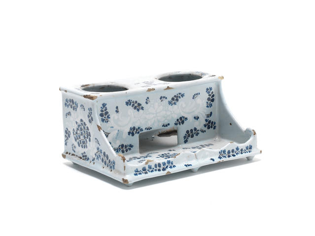 A French faience inkstand, circa 1770-80,