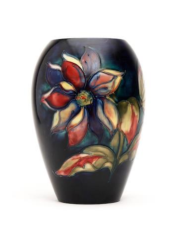 A Walter Moorcroft 'Clematis' design vase Circa 1950