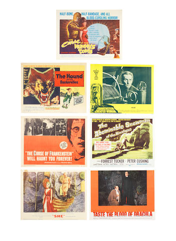 Hammer Films & Horror: A large collection of front of house stills and lobby cards,  1950s - 1970s, titles including:quantity