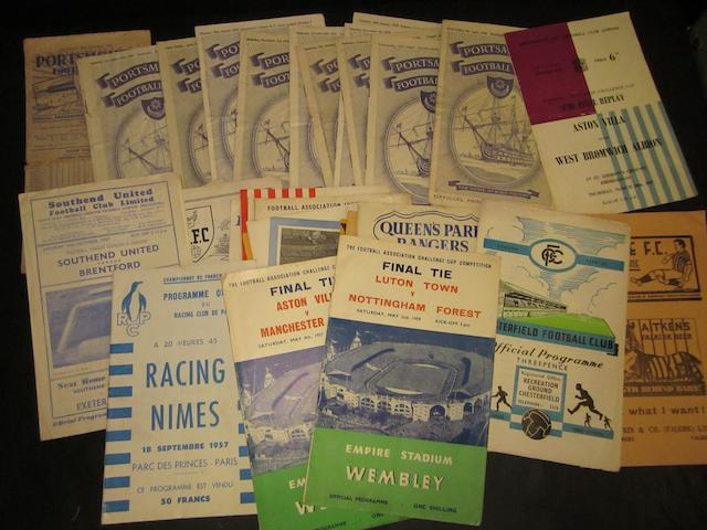 A collection of 1950's football programmes