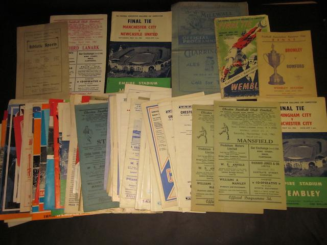 A collection of football and other programmes