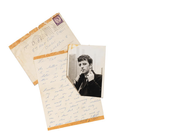 A rare letter from Ringo Starr to a fan, 1963,
