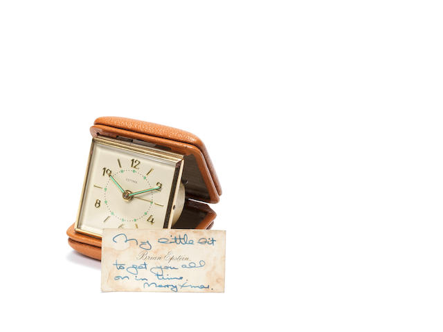 An alarm clock given to Pete Best by Brian Epstein,  Christmas 1961,