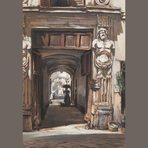 Muirhead Bone 'An Old Palace Rome'