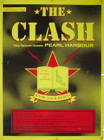 A poster for The Clash at Leeds University,  10th May,