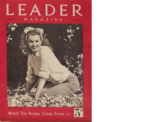 Marilyn Monroe: A rare copy of Leader Magazine, April 13 1946, Vol.3 No.26