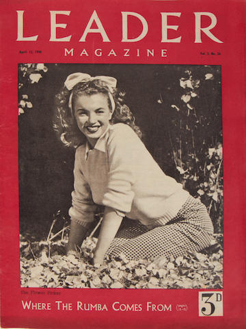 Marilyn Monroe: A rare copy of Leader Magazine, April 13 1946, Vol.3 No.26