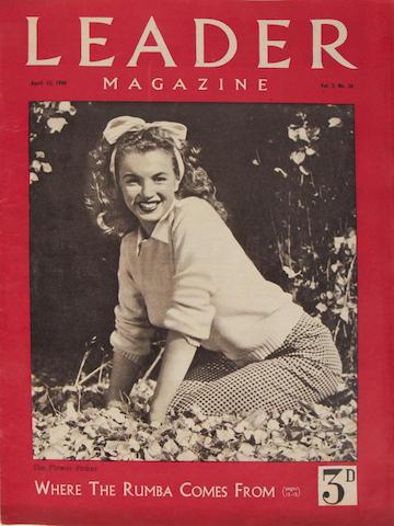 Marilyn Monroe: A rare copy of Leader Magazine, April 13, 1946, Vol.3 No.26