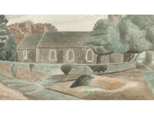 Edward Bawden R.A. (British, 1903-1989), 'The Church at Dunwich'