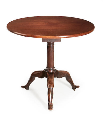 A George III 'Manx' mahogany tripod table