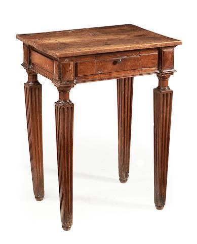 An Italian 17th century walnut side table