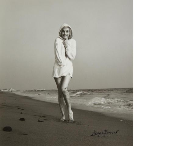 George Barris (American b.1928)- Marilyn Monroe, Santa Monica Beach,