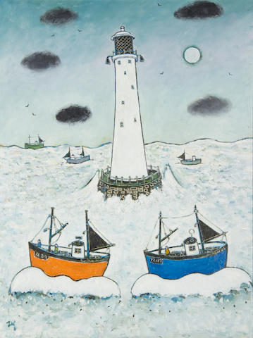 Joan Gillchrest (British, 1918-2008) Longship Lighthouse