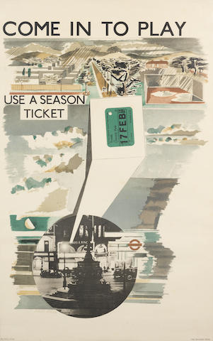 Paul Nash (British, 1889-1946) Come out to Live; Come in to Play Lithographic posters, 1936, the pair, published by London Transport, printed by the Baynard Press, 1000 x 620mm (39 3/8 x 24 3/8in)(SH) 2