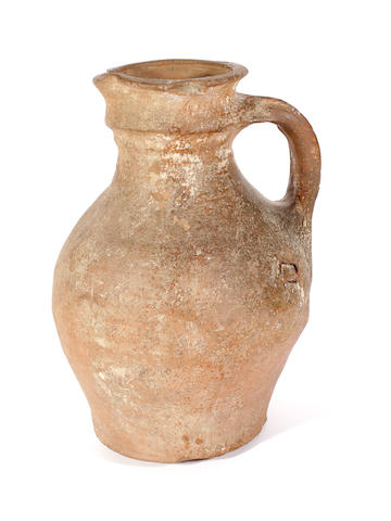 An English medieval jug, 14th century