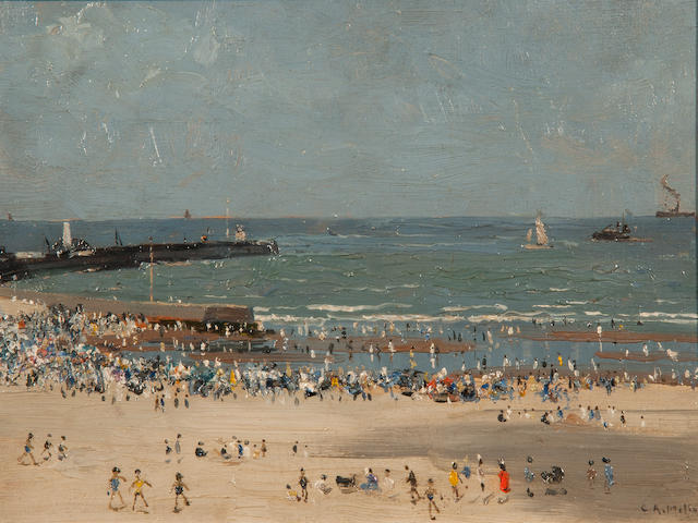 Campbell Archibald Mellon (British, 1876-1955) 'Afternoon August, Gorleston - Veiled sunshine sketch'