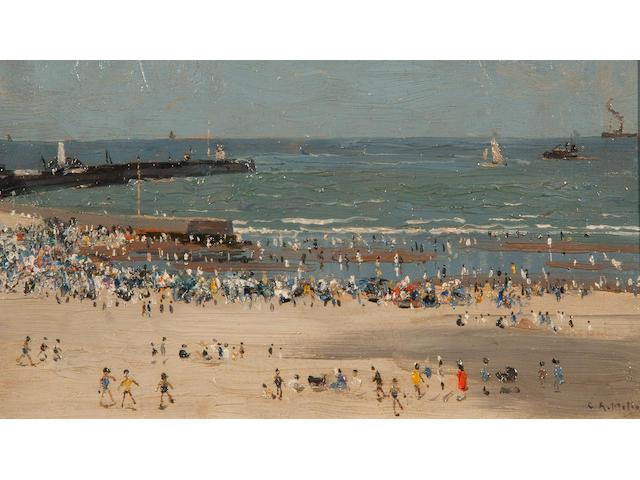 Campbell Archibald Mellon (British, 1876-1955) 'Afternoon August, Gorleston - Veiled sunshine sketch'