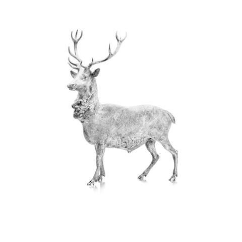 A silver model of a stag By Garrard & Co Ltd, London 1978