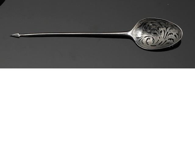 A George III mote spoon makers mark struck twice, circa 1770