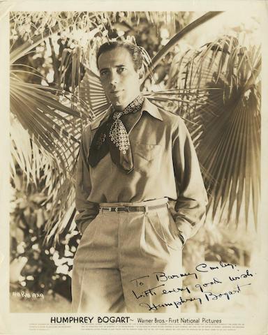 An autographed publicity still of Humphrey Bogart,
