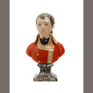 A Staffordshire bust of Bonaparte, early 19th century