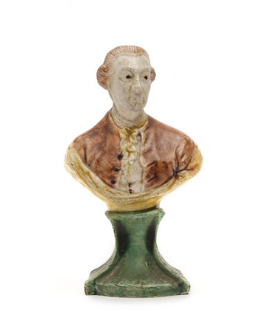 A Staffordshire bust, possibly of William Pitt the Younger Circa 1790
