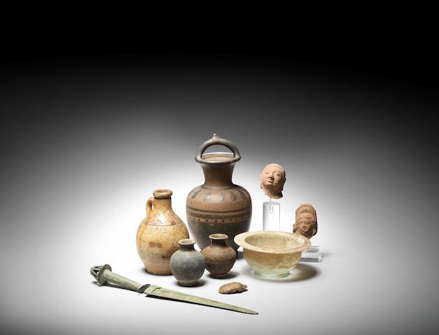 A group of antiquities and other artefacts 11
