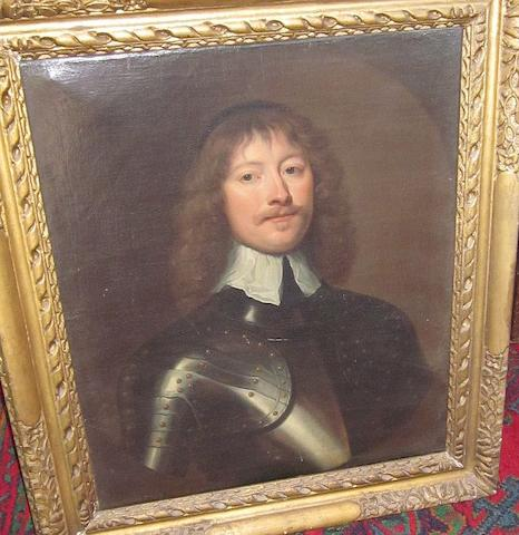 After William Dobson (19th century) Portrait of a man in armour with white collar