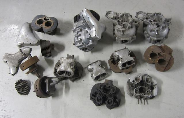A selection of BSA engine parts,
