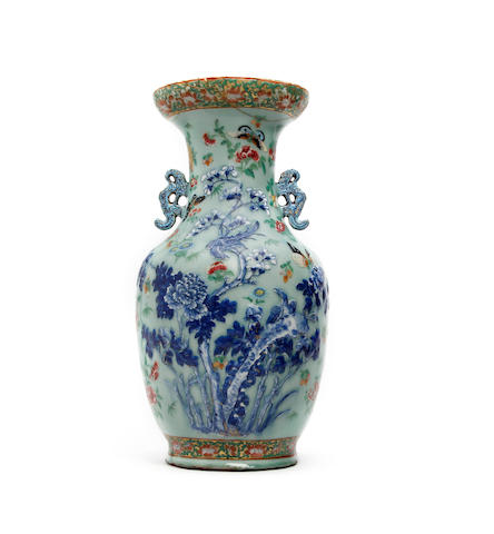 A 19th century Chinese famille rose vase