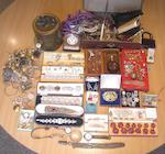 A large collection of jewellery and costume jewellery