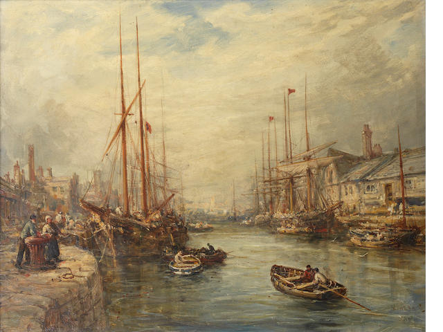 William Edward Webb (British, 1862-1903) 'At Boston, Lincolnshire'