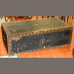 A George III black Japanned and gilt decorated  chest