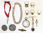 A collection of jewellery items,  (11)