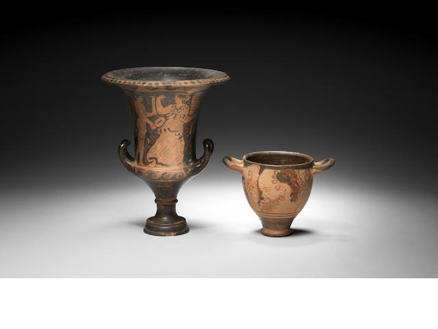 Two Etruscan pottery vessels