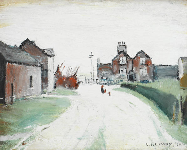 Laurence Stephen Lowry R.A. (British, 1887-1976) Ardens Farm, Swinton Moss,