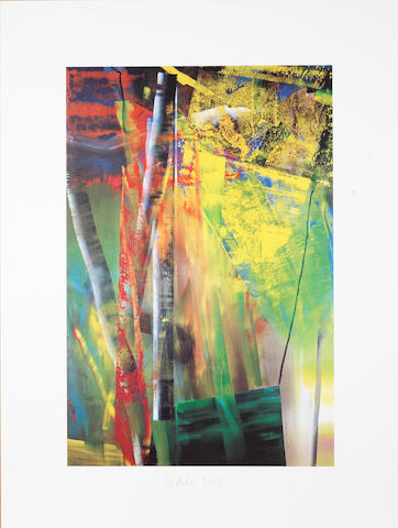 Gerhard Richter (German, born 1932) Victoria I; Victoria II (Butin p.283) Two offset lithographs printed in colours, 2003, each on wove paper, each signed and dated in pencil, published by Achenbach Art Edition, Dusseldorf, each 799 x 600mm (31 1/2 x 23 5/8in) (SH)(unframed)(2)
