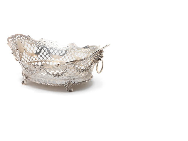 A late 19th century Dutch silver oval basket
