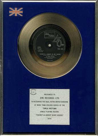 A 'Silver' sales award for the single 'There's A Ghost In My House' by R. Dean Taylor, 1974,